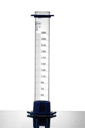 Measuring Cylinder w plastic base & protection collar, Class B, 250ml