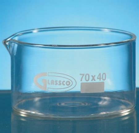 Crystallizing Dish w spout, 900ml, D140xH75mm, borocillate glass 3.3
